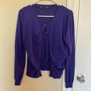 Maurices Ruffle Front Cardigan
